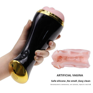 Male Vibrating Masturbator With Voice - Trade Power