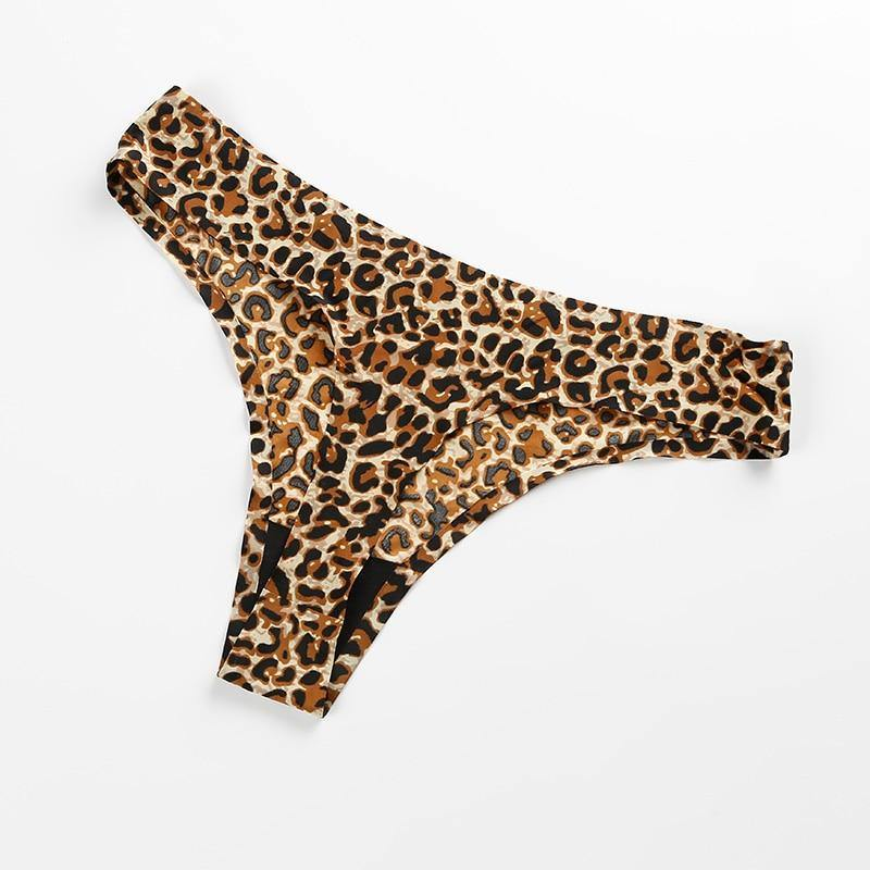 3 Pieces Women's Seamless Leopard Thong - Trade Power