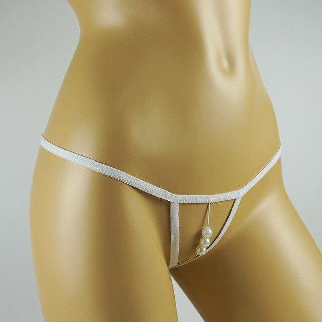 Sexy Open Crotch Pearl G-String