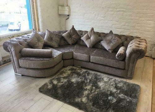 Chesterfield Curved Sofa