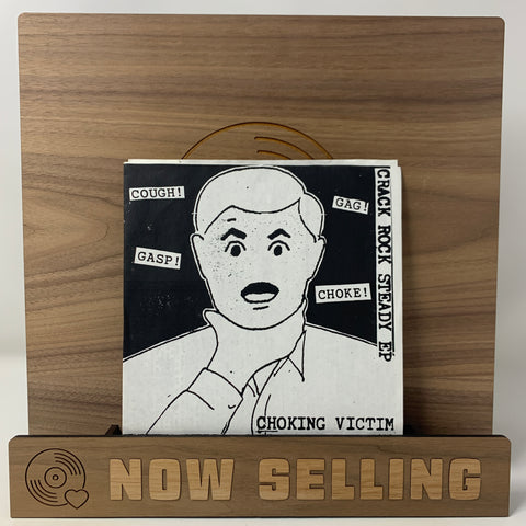 "Choking Victim - Crack Rock Steady EP Vinyl 7"" w/ Insert RARE Leftover Crack"