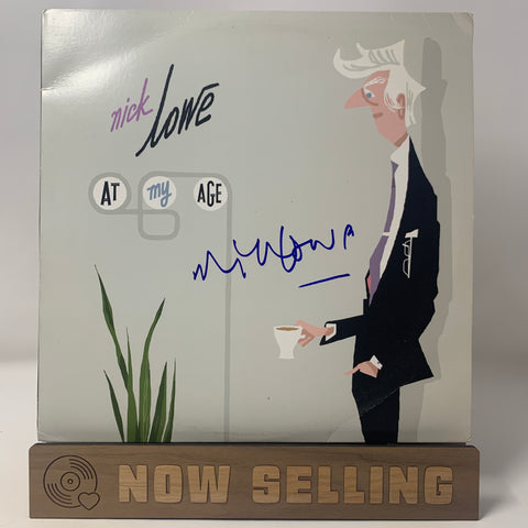 Nick Lowe - At My Age Vinyl LP 1st Press Original SIGNED