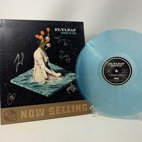 Flyleaf - Between The Stars Vinyl LP SIGNED Teal Translucent