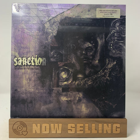 Sanction - Broken In Refraction Vinyl LP White Purple Pinwheel SEALED Vein.fm