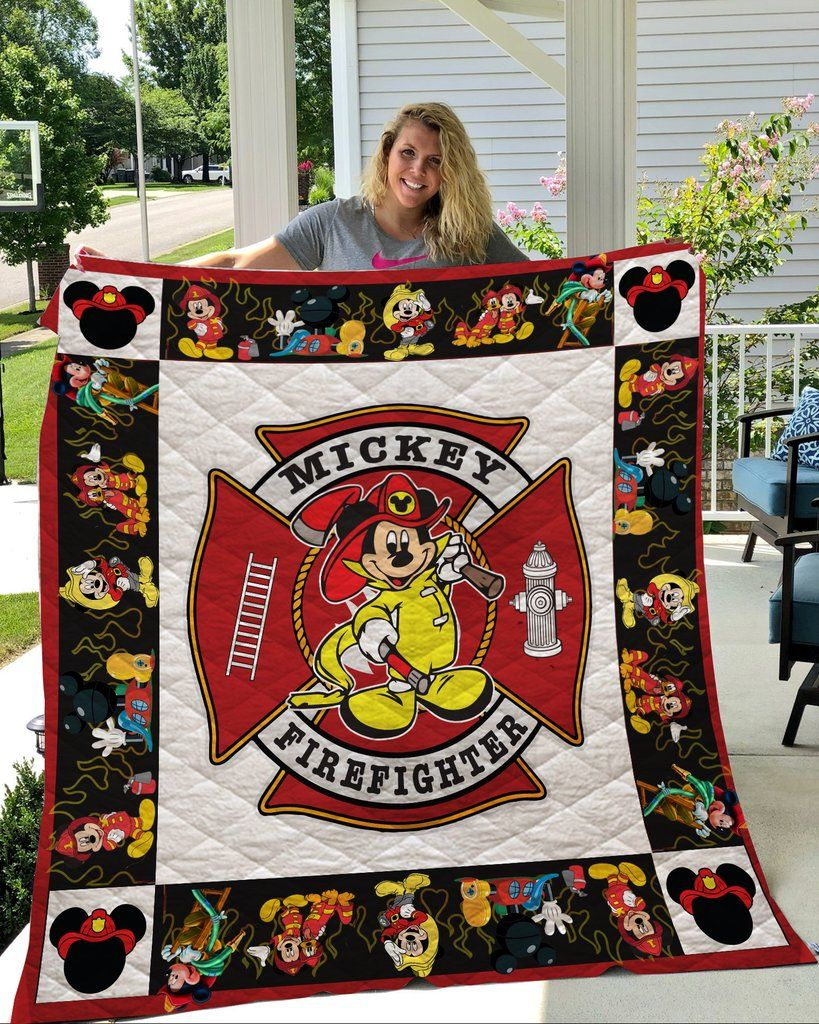 Firefighter Mickey Blanket