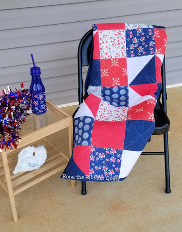 Americana Quilt Pattern, Digital Download