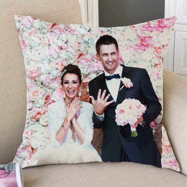 Customize Wedding Anniversary Photos Print Throw Pillows - LuLuify.com