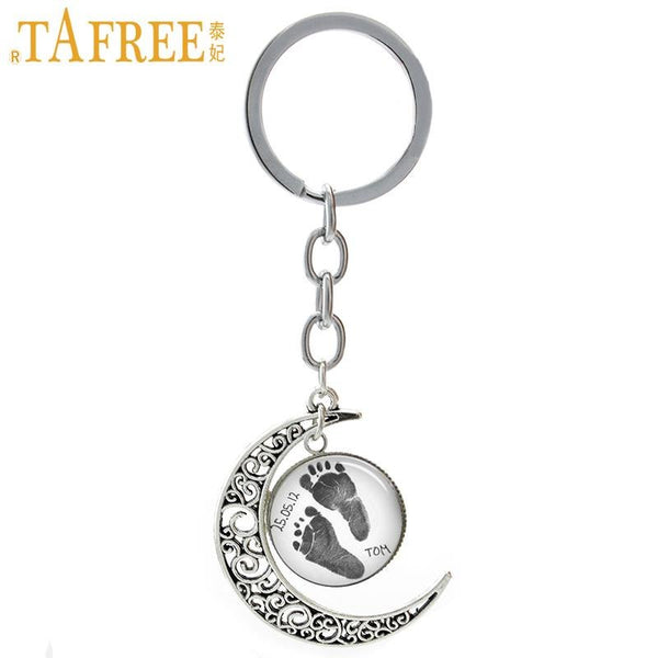 Personalized Footprint Key Chain - LuLuify.com