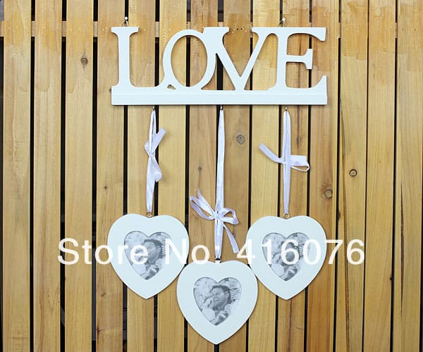 Heart to Heart Wooden Photo Frame - LuLuify.com