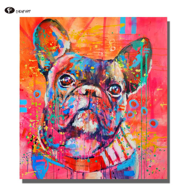 DOG Oil Painting Canvas - LuLuify.com