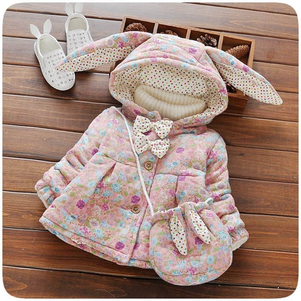 Winter Baby Girls Cute Rabbit Ear Hooded - LuLuify.com