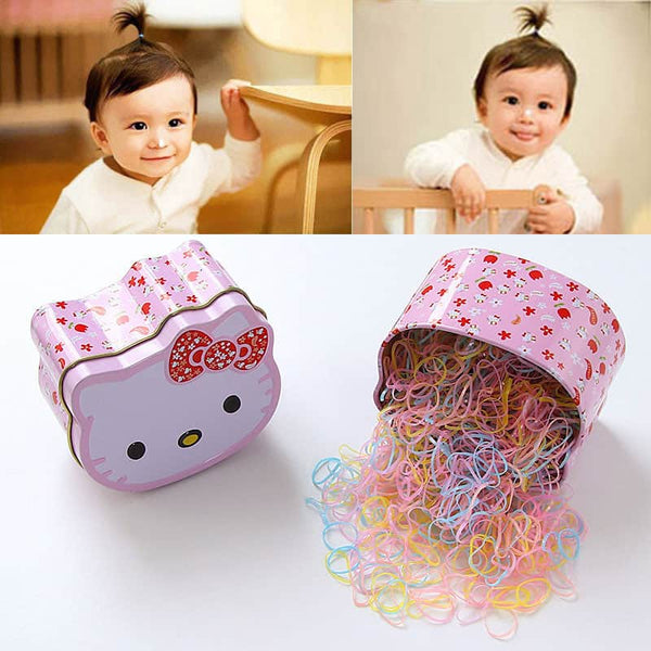 Baby Girls Candy Colors Ring Elastic Hair Bands - LuLuify.com