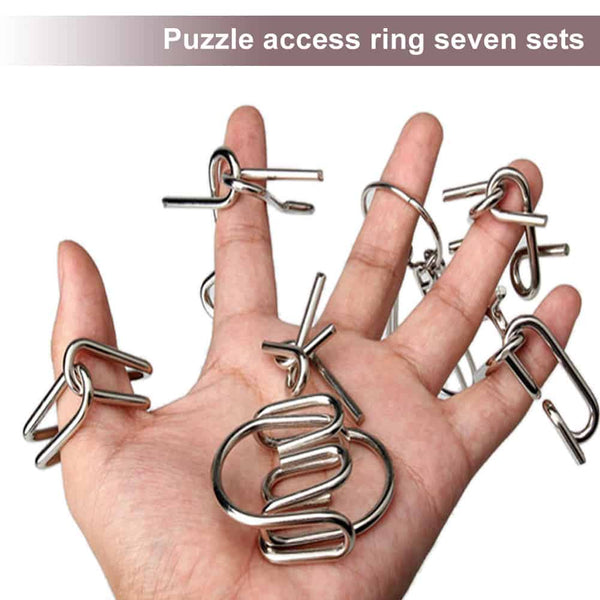 7 Sets Ring Puzzle Toy - LuLuify.com