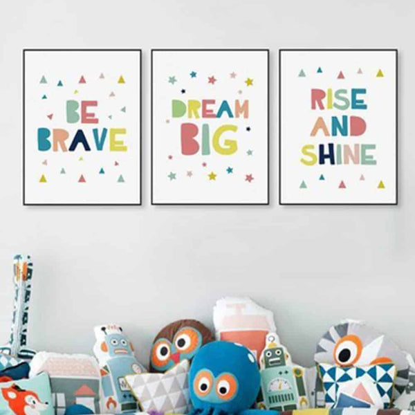 Kawaii Brave Dream Motivational Big Canvas Poster - LuLuify.com