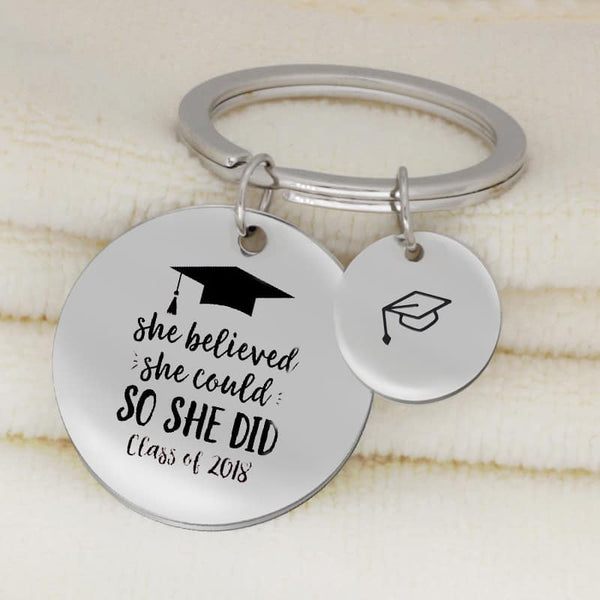 She Believed She Could So She Did Keychain - LuLuify.com