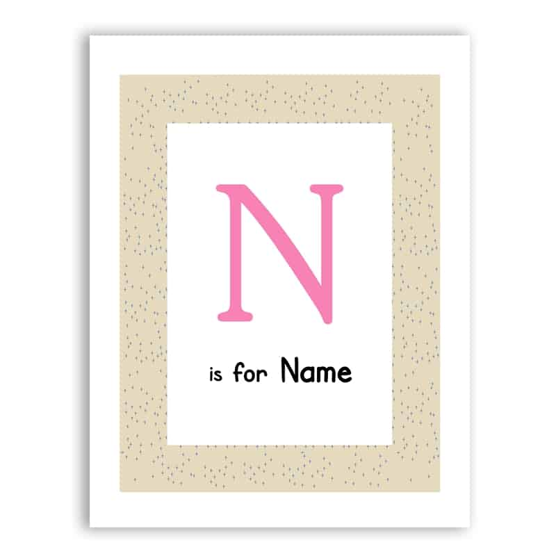 Personalized Baby Name Print And Poster - LuLuify.com