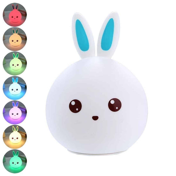 LED Silicone Rabbit Night Light - LuLuify.com