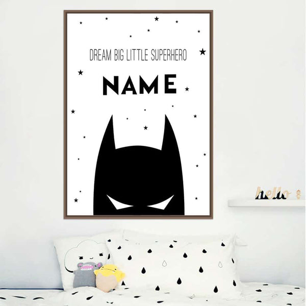 Personalized Superhero Name Boy Canvas Art - LuLuify.com