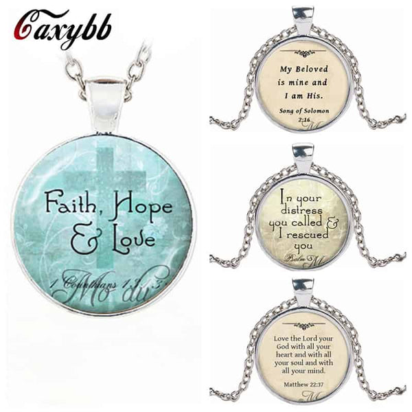 Love Hope Faith Quote Pendant - LuLuify.com