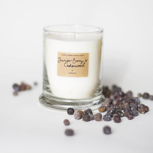 AEQUILL Juniper & Cedarwood Essential Oil Scented Candle