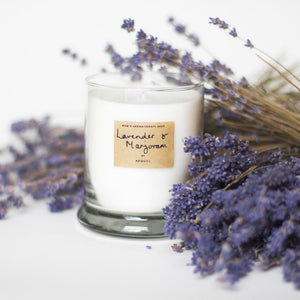 AEQUILL Lavender & Marjoram Scented Candle