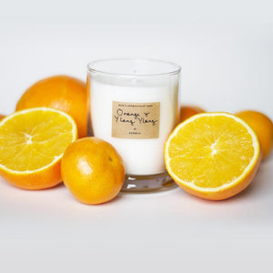 AEQUILL Orange & Ylang Ylang Essential Oil Scented Candle
