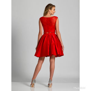 Dave & Johnny red 2-piece dress, size 11/12