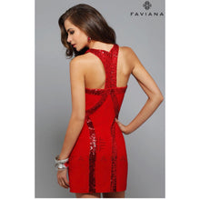 Load image into Gallery viewer, Faviana red dress, sizes 4 & 6