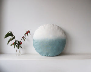 Round Cushion Dip-Dyed