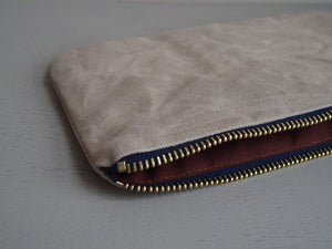 Waxed Canvas Etui medium