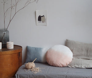 Dip-Dyed Cushion