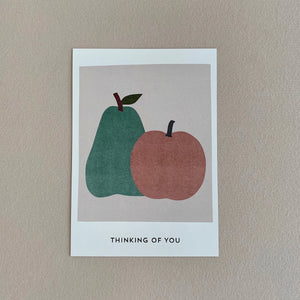 MIKANU APPLE/PEAR POSTCARD