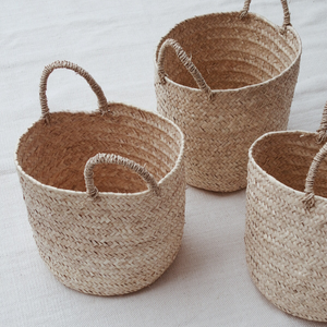MIKANU Round Palm Basket