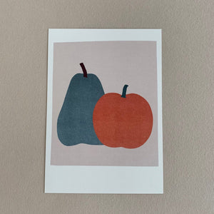 MIKANU GREETING CARD - APPLE/PEAR