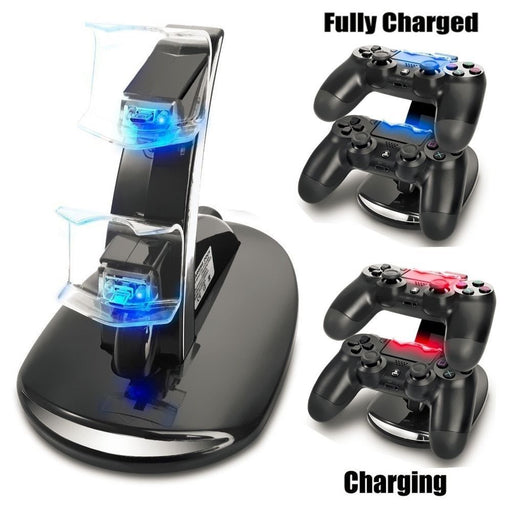 Dual USB Handle Fast Charging Dock Station Stand Charger for Sony PS4 Controller