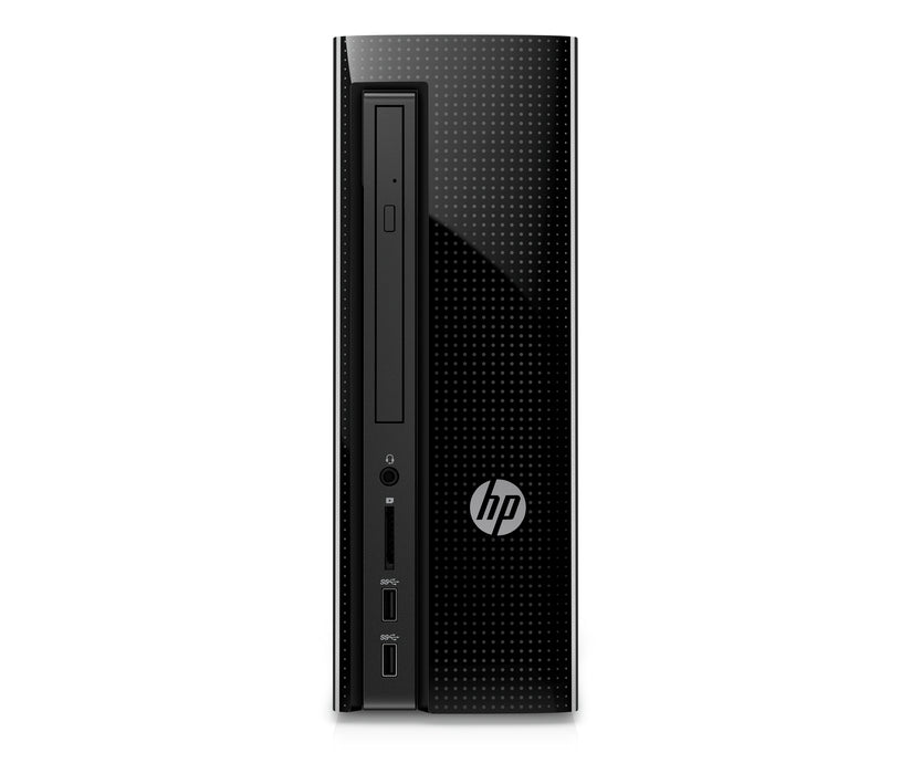 HP Slim 270-p033w Desktop Tower, Intel Celeron G3930 Processor, 4GB Memory, 500GB Hard Drive, Keyboard and Mouse, Windows 10