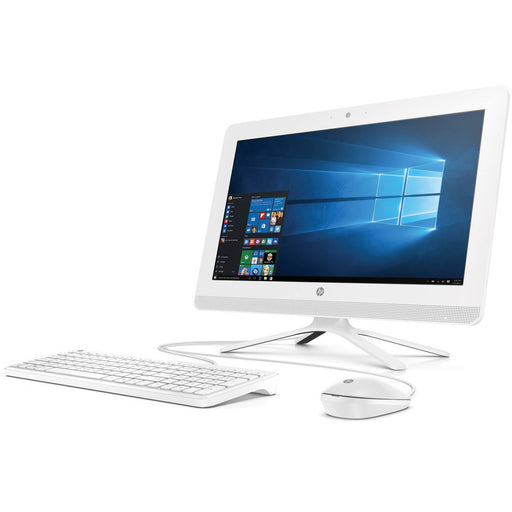 "HP 20-c013w Snow White All-in-One PC with 19.5"" HD+ Display, Intel Celeron J3060 Processor, 4GB Memory, 500GB Hard Drive and Windows 10 Home"