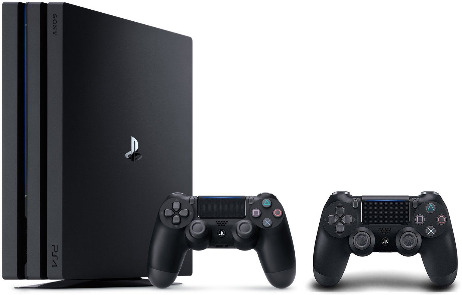 PlayStation 4 Pro Console Bundle: PS4 Pro 1TB Console, Two Dualshock Wireless Controllers