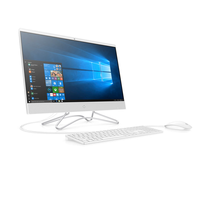 HP 24-F0010 Snow White All in One PC, Intel PentiumJ5005 Processor, 8GB Memory, 1TB Hard Drive, Intel UMA Graphics, Windows 10 (Core+ ), DVD
