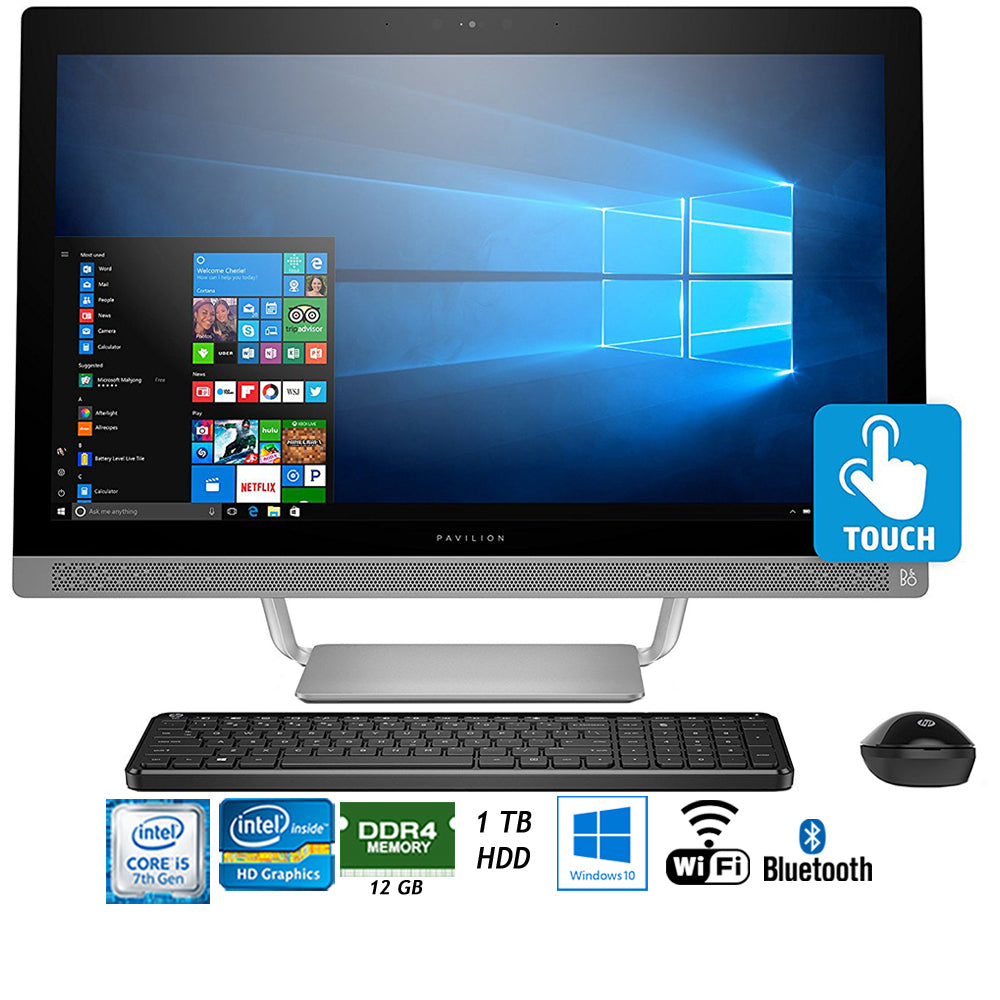 "HP Pavilion 27-a230 Intel Core i5-7400T 1TB 27"" All-in-1 PC Z5M04AA#ABA + Elite Suite 18 Standard Editing Software Bundle + 1 Year Extended Warranty"