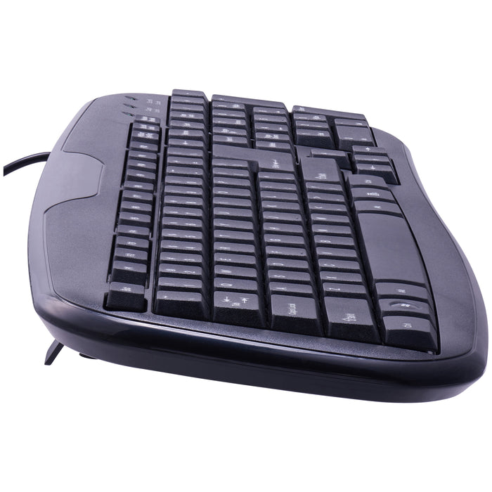 Onn Usb Connected Soft-Touch Wired Keyboard, Black