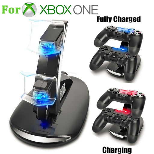 EEEkit Dual Controller Fast Charging Dock for Xbox One and Xbox One S Controller, Xbox Charger Station, White & Black