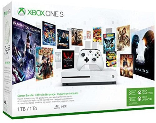 Microsoft Xbox One S 1TB Console Starter Bundle Robot - White