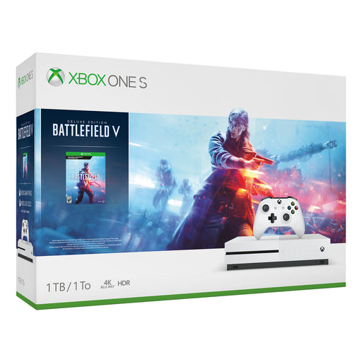 Microsoft Xbox One S 1TB Battlefield V Bundle, White, 234-00679