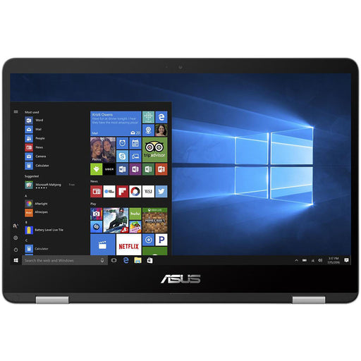 ASUS VivoBook Flip 14 Thin and Light 2-in-1 HD Touchscreen Laptop, Intel® Quad-Core Pentium® N4200 Processor (2.5GHz), 4GB RAM, 64GB EMMC Storage, Windows 10 Home