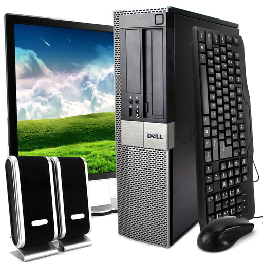 Dell Optiplex 960 Desktop Intel Core 2 Duo 3.0GHz 8GB RAM 1TB HDD DVD-ROM Windows 10 Home 19'' Display Keyboard Mouse Speaker WiFi