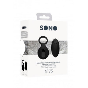 SONO NO. 75 REMOTE CONTROLLED VIBRATING COCK RING BLACK