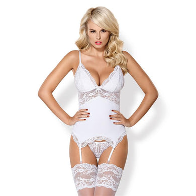 Obsessive Corset and Thong White