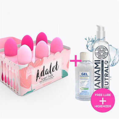 Adalet + Neutral Nanami Lubricant + Hydroalcoholic Gel Kit 6 Kegel Balls Silicone