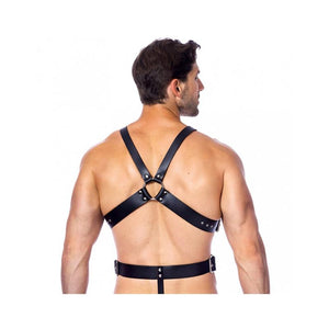 Leather Harness with Rings Adjustable